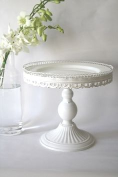 Vintage white cake stand