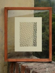 Ivory Jaali Mughal Lattice Sanjhi Art   This intricately crafted Sanjhi Art is a traditional folk art that is practiced today by using the paper-cutting technique. The template for the traditional Sanjhi making by itself is considered a work of art.