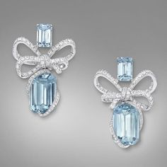 Brazilian Aquamarine and Diamond Earrings | Saved for Future Outfits in Gabrielle's Amazing Fantasy Closet