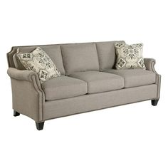 Craftmaster Reed Transitional Sofa with Scalloped Border and Nailhead Trim
