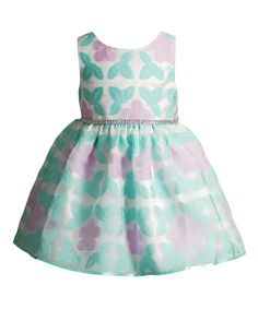 Look at this Youngland Aqua & Lilac Floral A-Line Dress - Infant, Toddler & Girls on #zulily today!