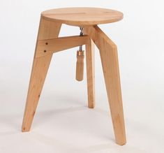 Woodworker clamps this home bar stool together with a little humor. Easy knock down and set up flat pack furniture when extra seating is needed at a party. Guests will get a few laughs and be entertained with a sort of IKEA style make your own chair design.