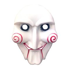 This Saw Movie Jigsaw Mask will make you look just like Billy, the puppet that Jigsaw uses to communicate with his victims in the Saw movie series. Let the games begin! Scary Halloween Masks, Scary Mask, Halloween Decorations, Halloween Face Makeup, Saw Movie Series, Movie Makeup, Puppets, Make It Yourself, Movies