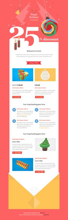 Exclusive New Year Newsletter  Email Client Template And Email