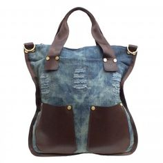 http://purpleleopardboutique.com/368-877-thickbox/giovani-rucci-denim-tote-bag-purse-with-leather-pockets.jpg  Denim and leather purse love it.