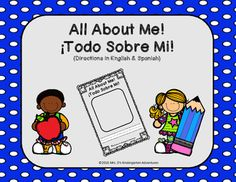 Thank you for downloading my All About Me booklet!  This is a great tool to help teachers get to know their students.  Questions are written in both English and Spanish. Please place the sheet with the questions right side up against the back of the cover page, with the cover page facing out.
