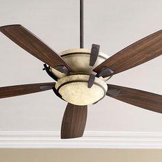 "52"" Quorum Mendocino Toasted Sienna Ceiling Fan"