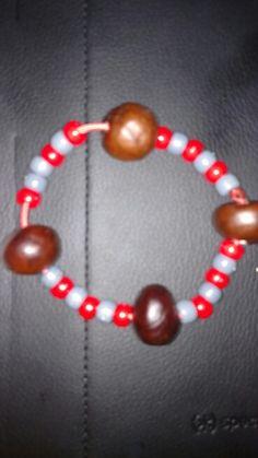 Buckeye bracelet. Buy @ www.mrbuckeye.etsy.com