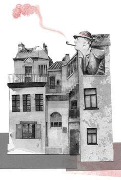 Jacques Tati. Pequeño diccionario de cinema para mitómanos amateurs de Miguel Cane, con ilustraciones de Ana Bustelo,  Impedimenta.