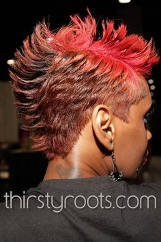 Short Relaxed Mohawk Feathered