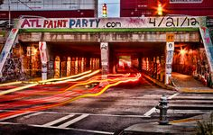 Krog Street Tunnel by Mark Chandler Photography, via Flickr This is an Atlanta landmark! Many videos, movies, boats, and adult swim occupy this space at any moment! Slow down take a look for yourself! It's awesome!