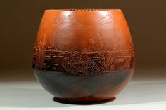 Birds of a Feather. Cherokee coil built pottery.