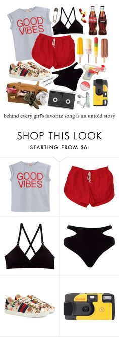 """I Know What You Did Last Summer"" by wheresbella ❤ liked on Polyvore featuring beauty, N°21, Cosabella, River Island, Gucci, Cotton Candy and Luckies"