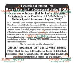 DICDL invites Expression of Interest for various facilities in Dholera SIR. Inviting members from #Hospitals #Schools #Cafeteria #Cafe #Banks to Construct and Setup in Dholera SIR. #DICDL #SmartHomesInfrastrcture #DholeraSIR