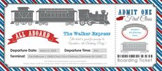 Train Ticket Invitation by ShySocialites.com