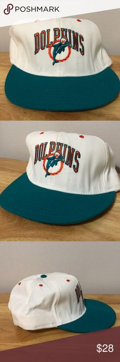 Vintage NFL Miami Dolphins Hat Vintage NFL Miami Dolphins Hat, Brand New, Never Worn or Used⚡️WILL SHIP IN ONE DAY⚡️All bundles of 2 or more receive 20% off. Closet full of new, used and vintage Vans, Skate and surf companies, jewelry, phone cases, shoes and more. NFL Accessories Hats