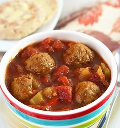 All-Day Italian Meatball Soup  tomato, bell peppers, and onions and flavorful, slow-cooked meatballs in a beef broth. A meal this comforting is hard to resist, and with this Italian meatball soup slow cooker recipe you'll be able to make it any time. This soup make a great meal no matter the occasion, and can be served in a smaller portion for a tasty lunch option. Preparation Time: 10 min Slow Cooker Time HIGH: 3 hr Slow Cooker Time LOW: 5 hr