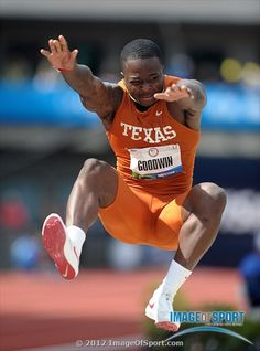 Marquise Goodwin of Texas wins the long jump at 27-4 (8.33m) in the 2012 U.S. Olympic Team Trials at Hayward Field. Credit: Kirby Lee/Image of Sport-US PRESSWIRE