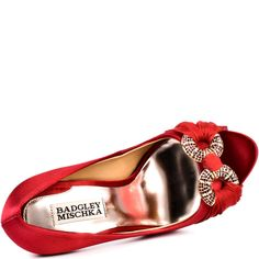 Janni - Red Satin, Badgley Mischka, $234.99, FREE 2nd Day Shipping!