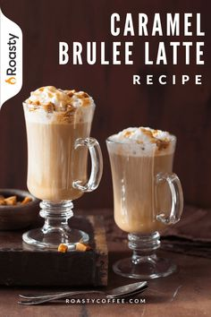 If you guys haven't tried this latte yet, what are you waiting for? All the rich and decadent flavors in this smooth caramel brulee latte are something else! Skip the Starbucks line and make this at home! Easy to put together with no fancy equipment required! Coffee Drink Recipes, Coffee Drinks, Starbucks Caramel Brulee Latte, Coffee Brownies, Coffee Counter, Vietnamese Iced Coffee, Latte Recipe, Coffee Ideas, Coffee Latte