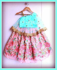 Yahvi -  luxury designer kids wear 7893037777 Baby Lehenga, Kids Lehenga Choli, Kids Indian Wear, Kids Ethnic Wear, Baby Girl Dresses, Baby Dress, Designer Kids Wear, Baby Frocks Designs, Kids Gown