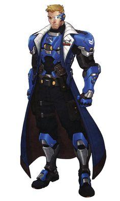 Jack Morrison from Overwatch #illustration #artwork #gaming #videogames #gamer