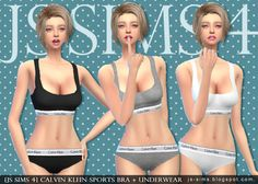 [JS SIMS 3&4] Calvin Klein Sports Bra+Underwear | JS SIMS | Sims 4 Updates -♦- Sims Finds & Sims Must Haves -♦- Free Sims Downloads