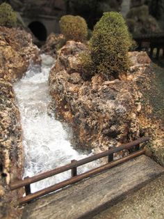 The Art of Todd Gamble: Adding more turbulent waters (drys clear) N Scale Trains, Ho Trains, Model Trains, Train Miniature, Water Effect, Christmas Village Display, Free To Use Images, Model Train Layouts, Scenery