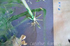 Get Crafty: Straw-Printed Dandelions ~ Creative Family Fun