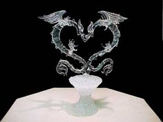 Glass Dragons Cake Topper @Courtney Kinser | If Dishes were wishes ...