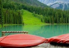 https://flic.kr/p/e3PeyS   Emerald Lake and Red Canoes   Beautiful Emerald Lake in Yoho National Park located in British Columbia, Canada. Yoho is a Cree expression of awe and wonder. As always, thank you for the visits and have a Happy St. Patrick's Day!
