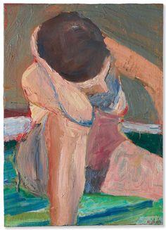 Richard Diebenkorn (American, Nude—Elbow on Knee, Oil on canvas, 61 x cm Richard Diebenkorn, Portrait Art, Portraits, Canadian Art, Character Design Animation, Elements Of Art, Figure Painting, Figurative Art, Abstract Expressionism