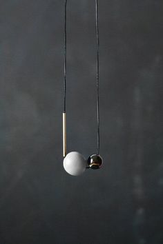 Geometric Necklace / Modern Jewelry / Grey Pearly от BlueBirdLab