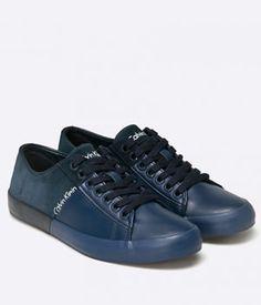 Tenisi Calvin Klein Piele Barbati Bleumarin Calvin Klein, All Black Sneakers, Shoes, Fashion, Tennis, Moda, Shoes Outlet, Fashion Styles, Shoe