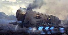 ArtStation - Titan steam hovertrain, Cristian Chihaia