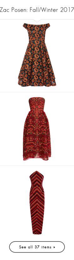 """Zac Posen: Fall/Winter 2017"" by livnd ❤ liked on Polyvore featuring ZacPosen, fallwinter2017, livndfashion, livndzacposen, dresses, zac posen, flower embroidered dress, off the shoulder dress, a line dress and zac posen dresses"