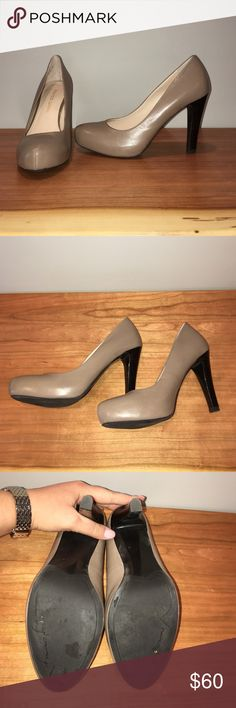 Taupe Franco Sarto heels Taupe Franco Sarto Cicero Heels in size 7.5. These have only been worn one time and are slightly too small for me. Practically perfect condition and a great shade of taupe! Will come with the original shoe box Franco Sarto Shoes Heels