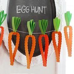 Easter Egg Hunt Party - Easy Carrot Garland