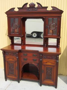 Antique Furniture English Antique Sideboard Hutch Server Buffet Cabinet  Mothers Love Free Information on how to (Make Money Online)  http://ibourl.com/1nss