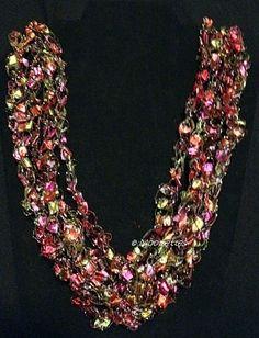 Ladder Ribbon Necklace Rose Gold Adjustable Trellis Necklace Crochet Jewelry $9.00