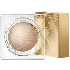 Burberry Eye Colour Cream - Festive Gold No.120 ($30) ❤ liked on Polyvore featuring beauty products, makeup, eye makeup, eyeshadow, beauty, burberry, burberry eyeshadow, creme eyeshadow, cream eyeshadow and gold eyeshadow