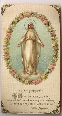 Vintage Mary holy card