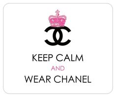 We are absolutely in love with Monogram, so we decided to showcase some iconic monogram designs, like the famous Coco Chanel monogram. Keep Calm and Wear Chanel
