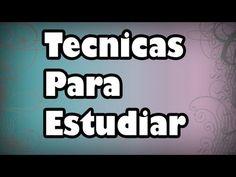 Técnicas para Estudiar - Mejorar la Concentración y el Rendimiento - YouTube