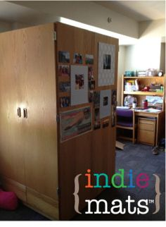 Indie Mats are perfect for Dorm Decor! No nails needed!