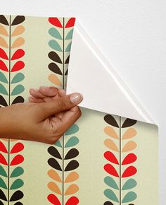Removable self-adhesive colourful vinyl Wallpaper wall sticker - Cute leave pattern C008