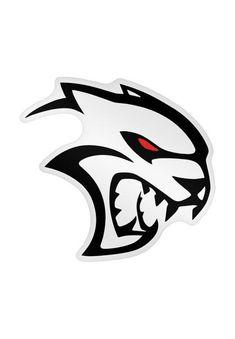 Dodge Hellcat Logo Wirh Red Eyes