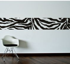 Zebra skin lineWall Decal. Wall Sticker.
