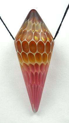 Bi-cone hollow boro glass bead by hwcglass (American Trade Bead) on Etsy