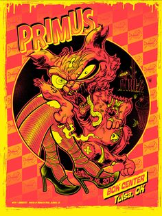 Primus Poster Series - Tulsa, OK by Zombie Yeti